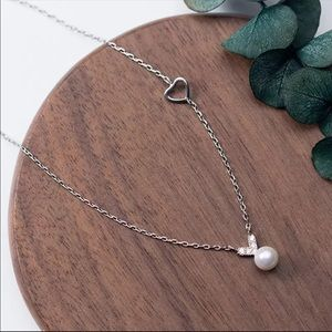 Jewelry - Sterling Silver 925 Faux Pearl Necklace
